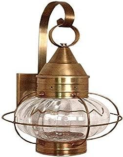 product image for Brass Traditions 621-OPT-DAC Medium Onion Wall Lantern Optic Globe, Dark Antique Copper Finish Optic Globe Onion Wall Lantern
