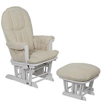 Tutti Bambini Fleur Multi Position Locking Glider Chair and Stool (White)  sc 1 st  Amazon UK & Tutti Bambini Fleur Multi Position Locking Glider Chair and Stool ...
