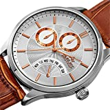 August-Steiner-Mens-Quartz-Stainless-Steel-and-Leather-Casual-Watch-ColorBrown-Model-AS8209SSBR