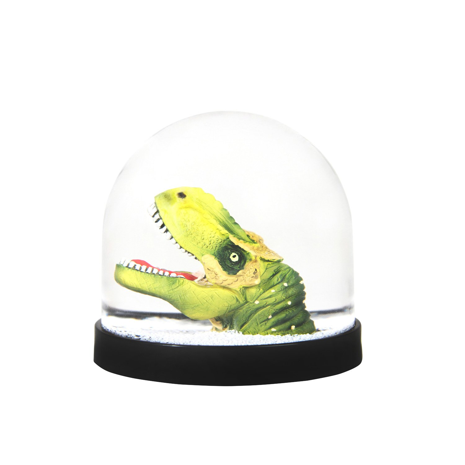 &Klevering Funny snow globe of high quality, with dinosaur, 8 x Ø 8.5 cm