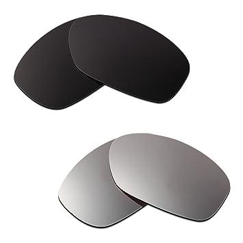 HKUCO Plus Mens Replacement Lenses For Oakley Flak Jacket Blue/Black/Titanium Sunglasses 2rGdY