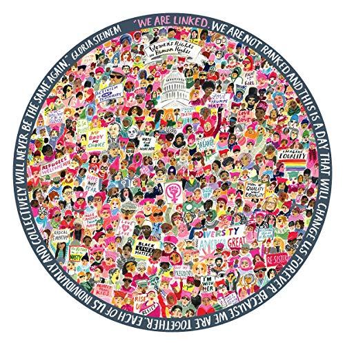 eeBoo Women March Round Puzzle, 500 Pieces