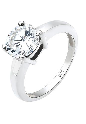 Bague pour Femme avec diamants au milieu de couleur claire marque Elli