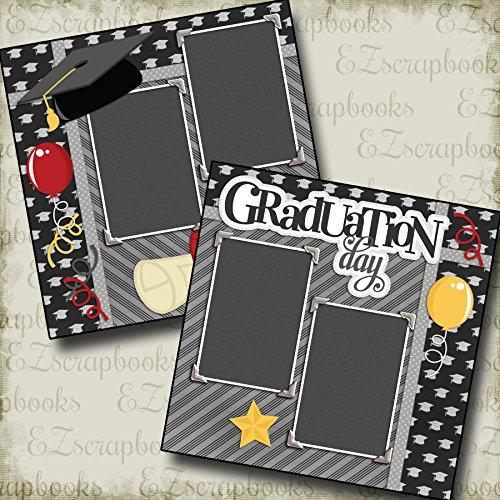 Graduation Scrapbook Layouts (GRADUATION DAY - Premade Scrapbook Pages - EZ Layout 2133)