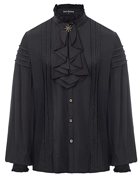 Amazon.com: Camisa de disfraz de pirata medieval para hombre ...