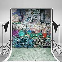 5x6.5ft Graffiti Wall Background No Wrinkles Studio Background For Children Backdrops gc-1385