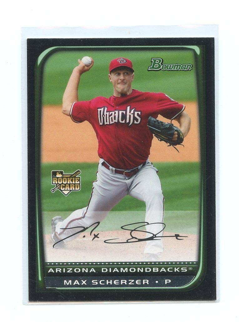 2008 Bowman Draft Picks Gold #BDP33 Max Scherzer Baseball Rookie Card