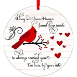 WaaHome Red Cardinal Christmas Ornaments 3'' Christmas in Heaven Ornaments in Memory of Loved One Christmas Tree Ornaments Tr