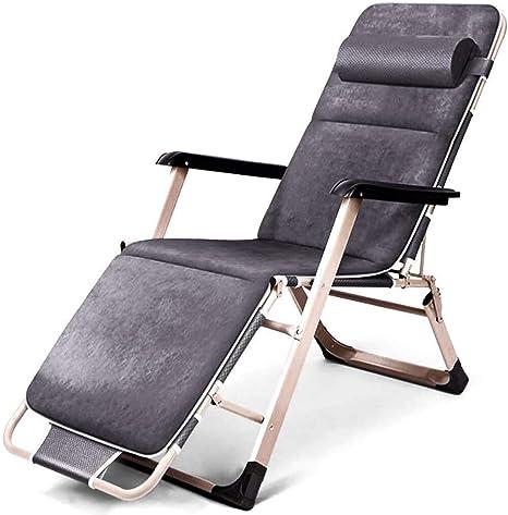 ADHW Reclinable, sillas reclinables Exterior, jardín al Aire Libre Mecedora Silla de relajación, Fundas de Cojines sillón reclinable, Playa Tomando el Sol, Tumbona (Color : Grey): Amazon.es: Hogar