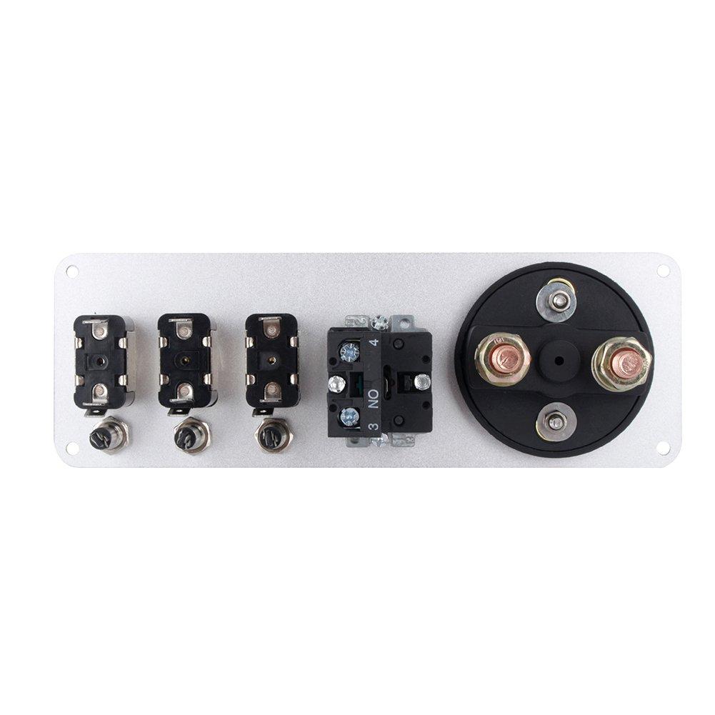 DC 12 V interruptor de encendido abatible bot/ón de arranque del motor del coche para carreras deportivas competitivas coche panel de superficie de fibra de carbono 5 en 1