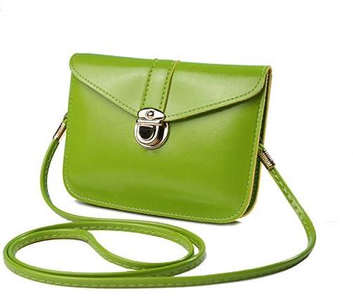 b39355a384a edfamily Women Girls Mini Handbags Leather Crossbody Single Shoulder Bag  Cellphone Pouch Purse Wallet(Apple