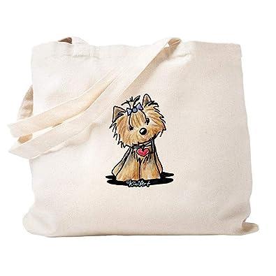 Amazon.com: Tiny Heart Yorkie bolsa de lona natural, bolsa ...