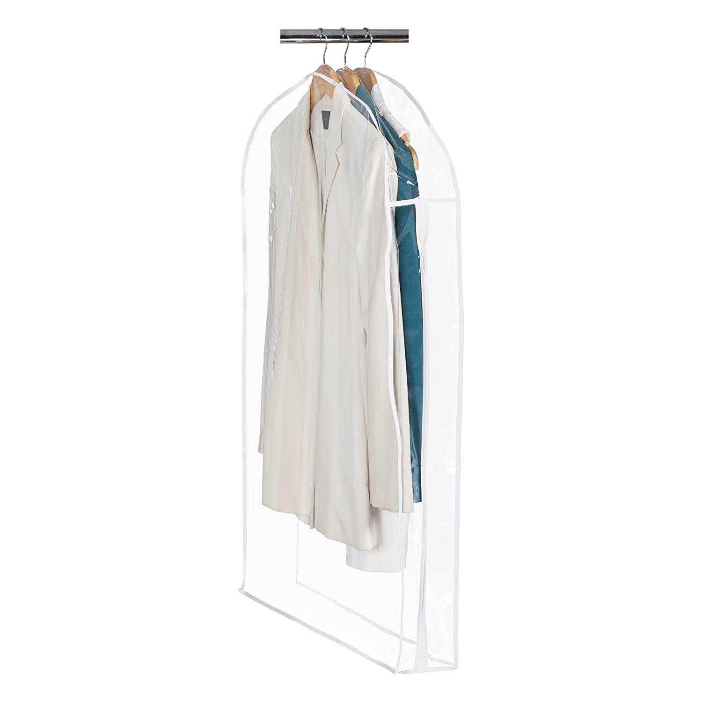 "B0000ZU2UI Clear Vinyl Storage Suit Garment Cover: 40"" H x 24"" W x 5"" 617R3qS0JxL"