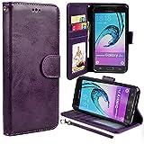 (US) J3 Case, Galaxy J36V Case, Express Prime Case, UrSpeedtekLive Luxury PU Leather Wallet Case Cover w/ Strap Card Slots Flip Magnetic Closer & Kickstand for Samsung Galaxy J3 (2016) / Amp Prime - Purple