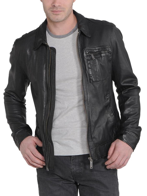 Men Leather Jacket Biker Motorcycle Coat Slim Fit Outwear Jackets AUK009