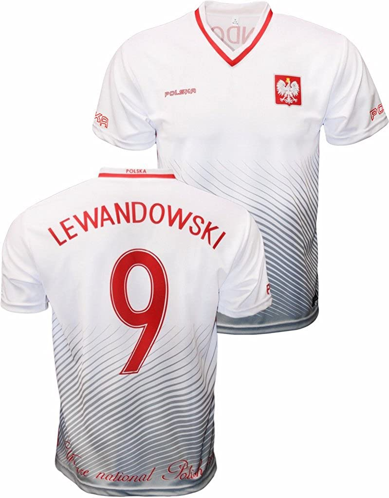 differently 2de3d 718a5 Youth Robert Lewandowski Polska Soccer Jersey Polish Pride Poland National  Team Zulla V-Neck Jersey
