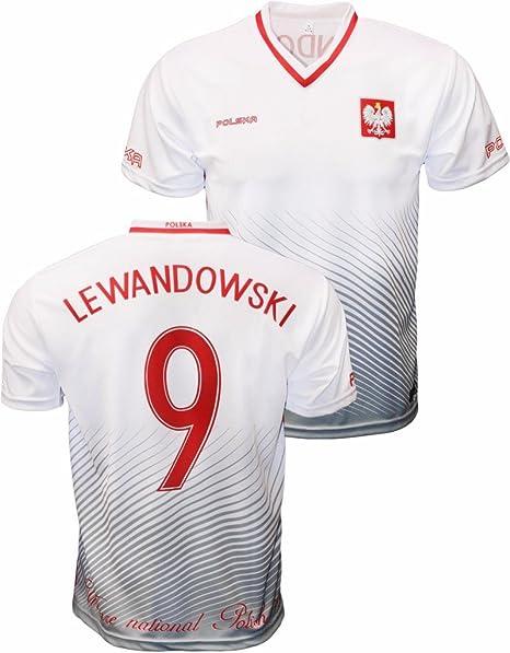 buy popular 1e07e fa60d Robert Lewandowski Polska Soccer Jersey Polish Pride Poland ...
