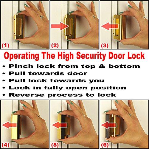 Prime-Line Products U 10827 Door Reinforcement Lock, 3 in. Stop ...