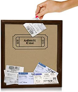 Shadow Box Display Case with slot 11 x 12 x 2.5. This top loading ticket box is great for displaying precious mementos. Display memories from concerts, movies, or even corks. (tan with logo)
