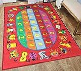 Educational ABC Alphabet Balloons 5 Ft. X 7 Ft. Area Rug KIDS CHILDREN SCHOOL CLASSROOM BEDROOM EDUCATIONAL RUG NON SKID GEL RUG