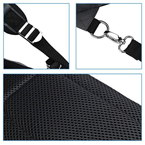Domiso borsa a spalla con manico e tasca con cerniera facile e comodo moda pacco da appendere sul petto per uomo (grigio)