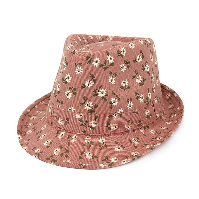 Gysad Pequeño patrón de Flores Jazz Cap Creativo Sombrero Panama Gorras Mujer Vintage Gorro de Pescador Sombrero Mujer Size 56-58cm (A): Amazon.es: Ropa y ...