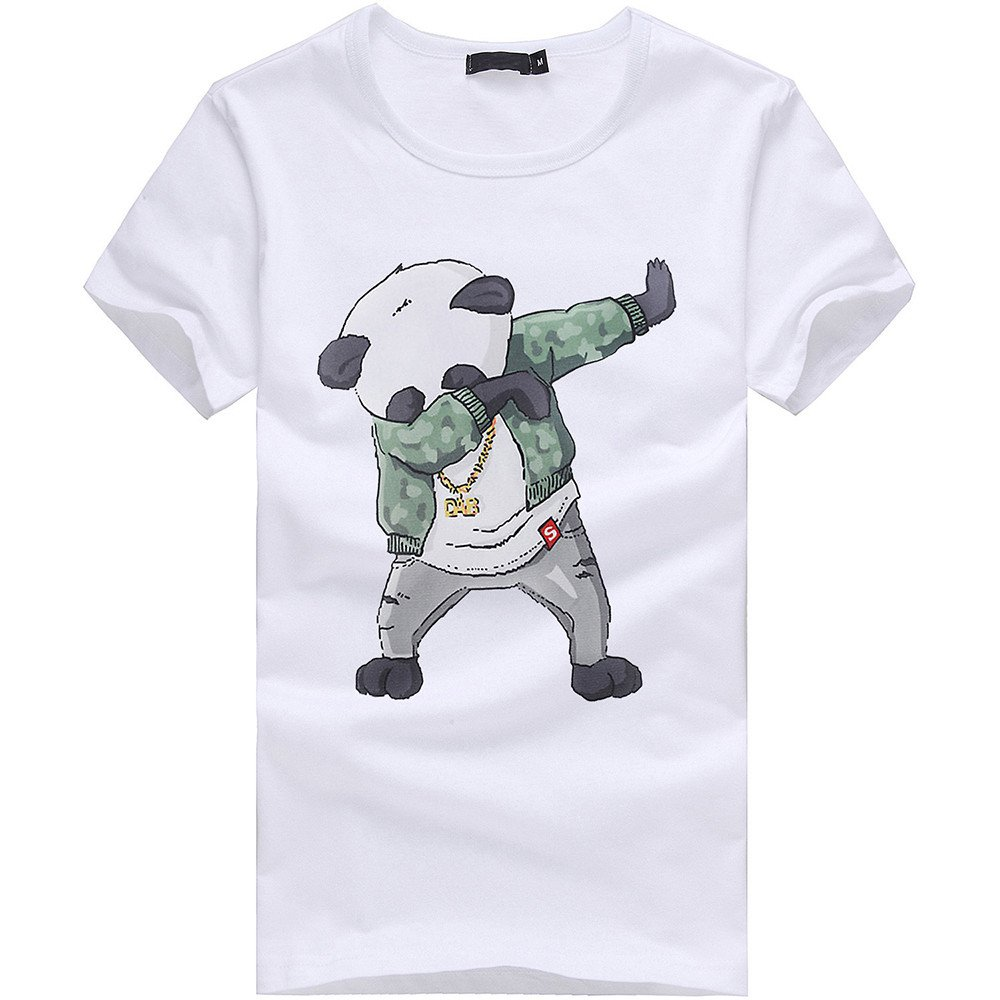 a89d6b0e Amazon.com: Zulmaliu Men Tee Shirt, Cute Panda Print T-Shirt Polo Shirts  Sportwear Outfit Cool Tank Tops: Clothing