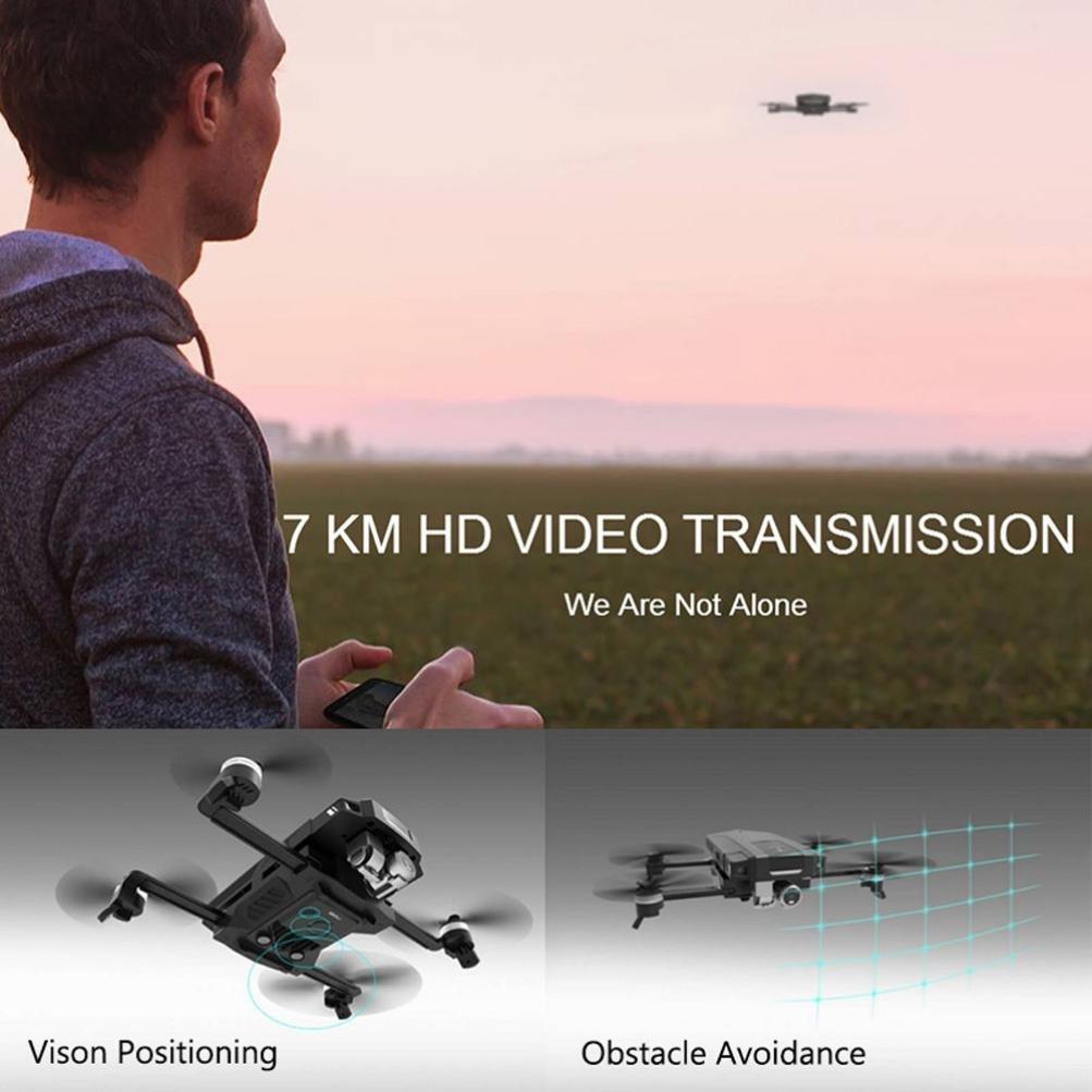 Inverlee GDU O2 Drone FPV Folding Quadcopter with 4K HD Camera GPS & GLONASS Avoidance (Black)