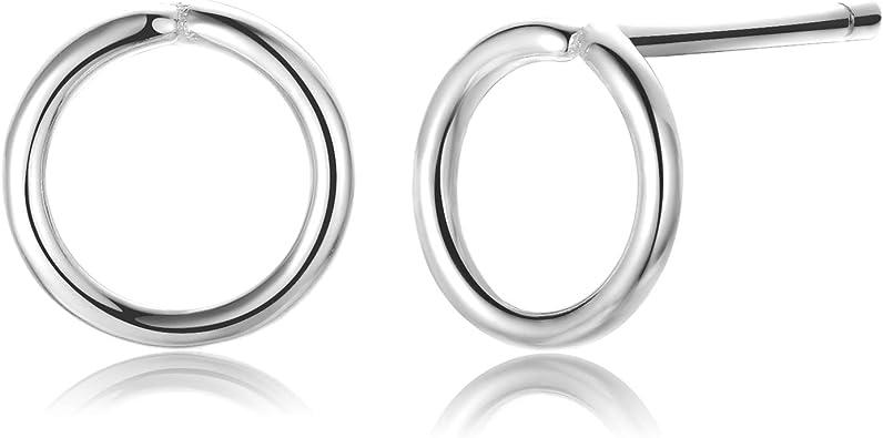 Tiny Studs Earrings Tiny open circle earrings Silver circle studs earrings SALE