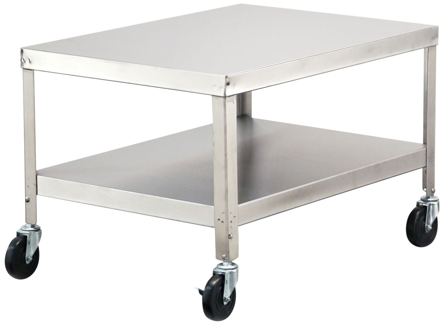 Lakeside 517 NSF-Mobile Machine Stand, Stainless Steel, 2 Shelves, 21.18'' Height, 33.25'' width, 33.25'' Length