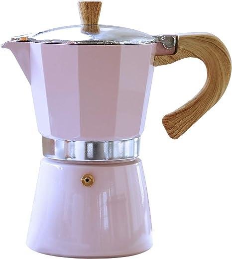 Gnali & Zani VEZ003/IND/PINK Venezia - Cafetera de espresso (3 tazas, aluminio), color rosa: Amazon.es: Hogar