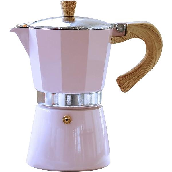 Excelsa Maialetto - Cafetera de espresso manual, color rosa ...
