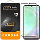 (2 Pack) Supershieldz for Huawei (P30 Pro) Tempered Glass Screen Protector, (Full Cover) (3D Curved Glass) Anti Scratch, Bubble Free (Black)