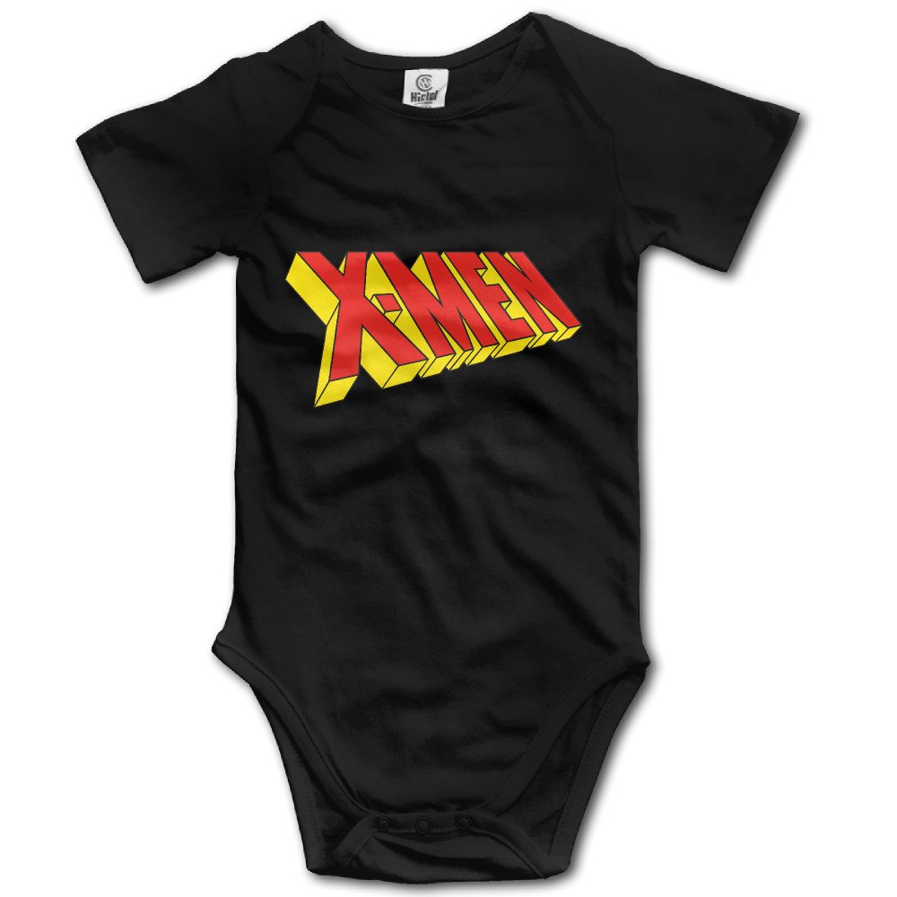 DETED X Letters Fashion Infant Babys Climb Romper Black