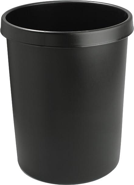 Helit H6105895 Papelera 31 x 32 cm, 18 litros Color Negro