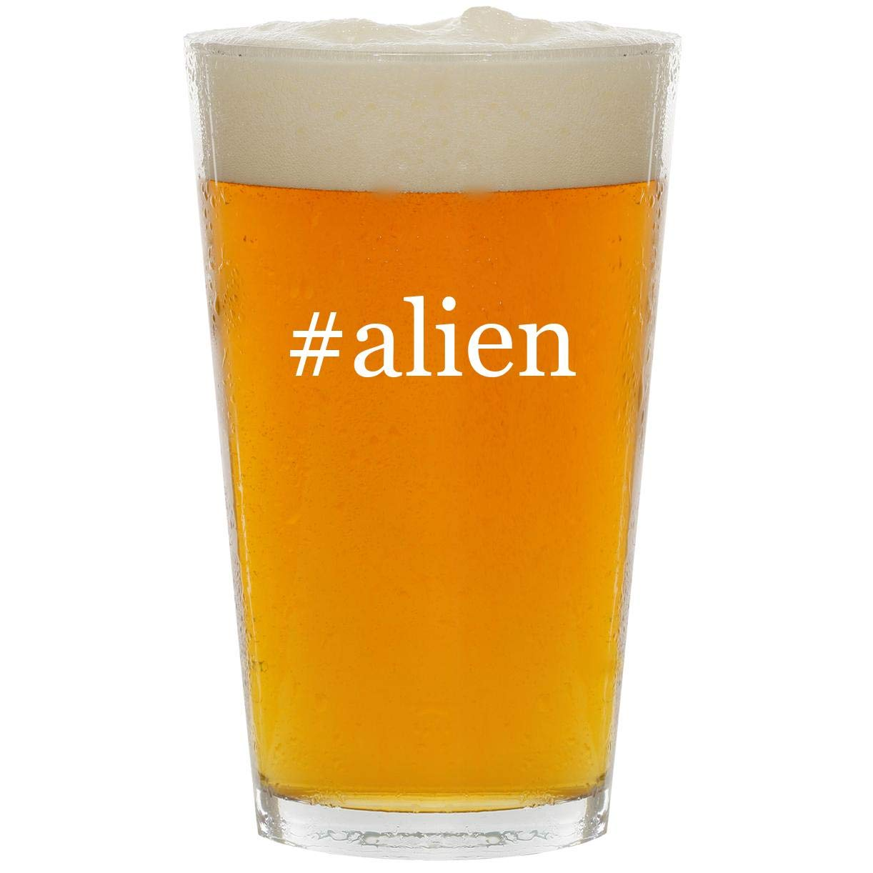 #alien - Glass Hashtag 16oz Beer Pint