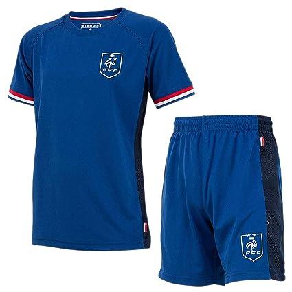 reputable site 8b520 cc69a Official FFF '2 Stars' Kids Soccer Jersey & Shorts - Blue ...