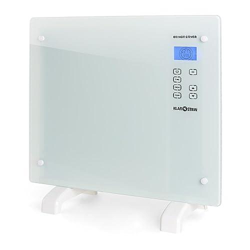 Klarstein HT006GL • Radiador eléctrico • Calefactor • Convector • 1000 W • Vidrio de seguridad
