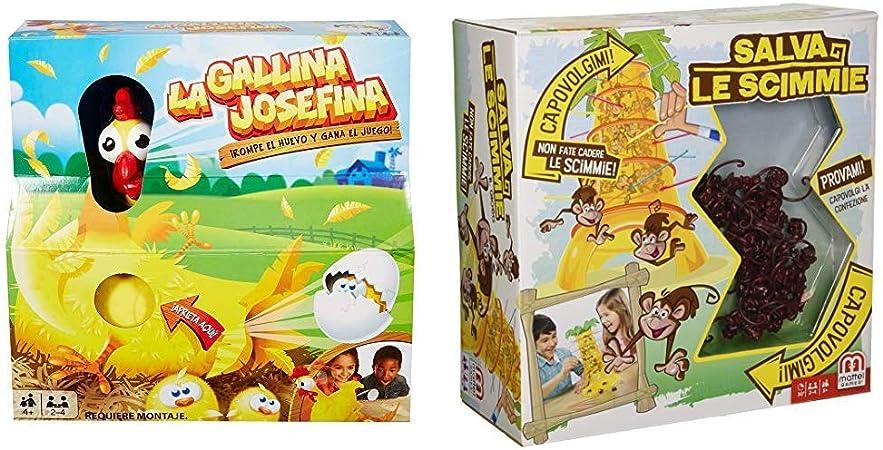 Mattel - Pack La Gallina Josefina + Monos Locos, juegos de mesa para niños: Amazon.es: Juguetes y juegos