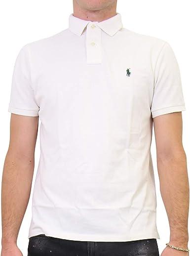 Ralph Lauren - Polo para Hombre Color Blanco. XL: Amazon.es ...