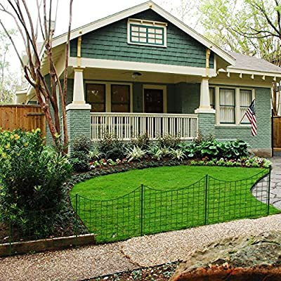 Coarbor Wire Garden Border Fence Metal Fencing Flower Bed Edging Each Panel 25'' High 27.5'' Wide Total 5 Panels A Set Perfect for Vegetable Flower Garden Patio Deck Barrier Keep Dogs Pets in and out