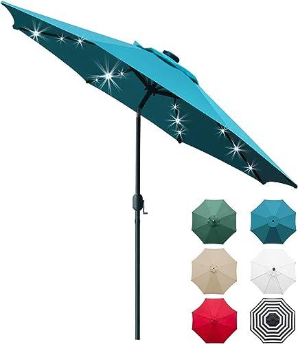 Sunnyglade 9' Solar 24 LED Lighted Patio Umbrella