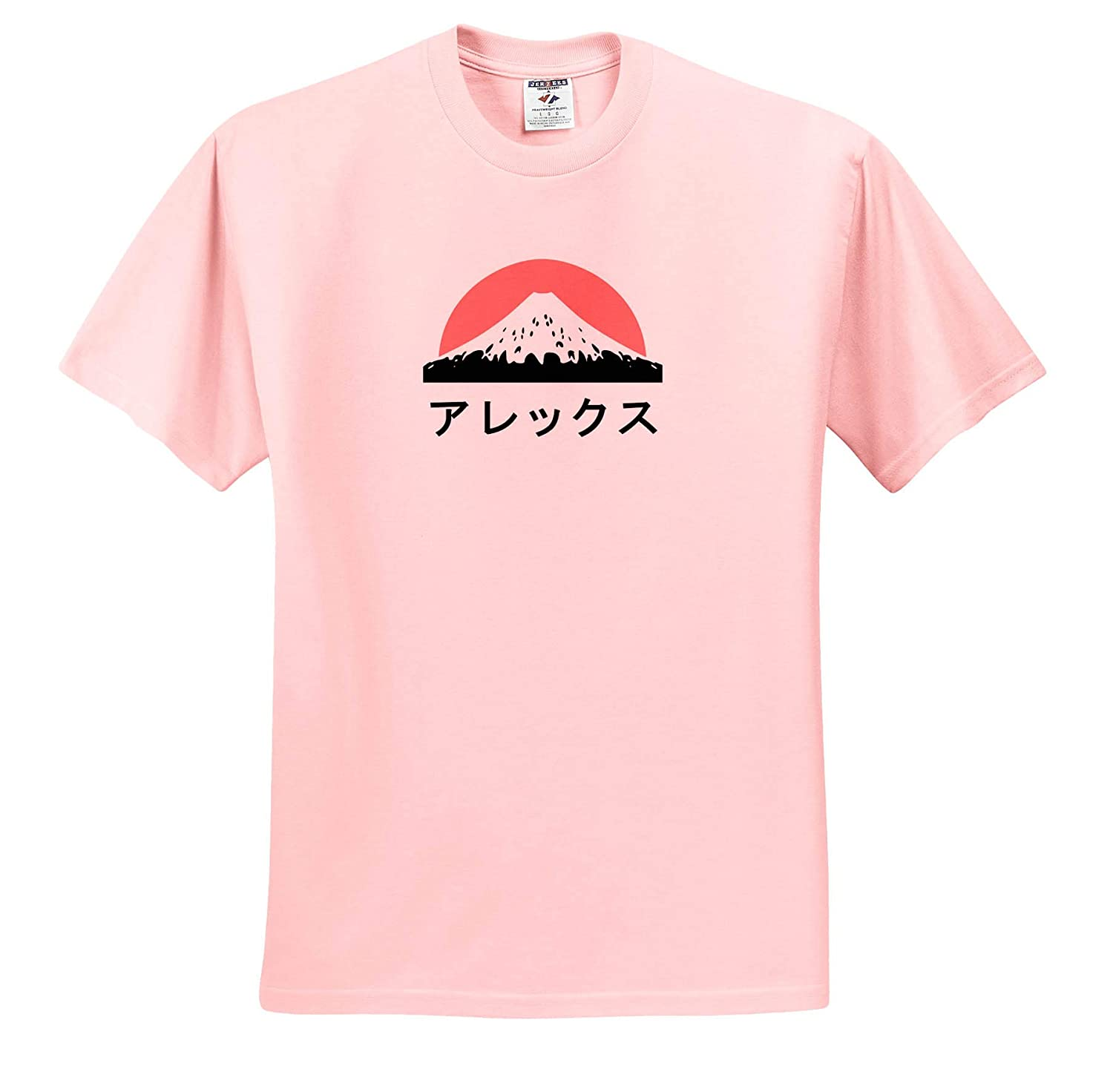 ts/_320417 3dRose InspirationzStore Adult T-Shirt XL Name in Japanese Alex in Japanese Letters
