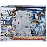 Playskool Heroes Star Wars Jedi Force Millennium Falcon Playset with Han Solo, Chewbacca, C-3PO and R2-D2 Figures