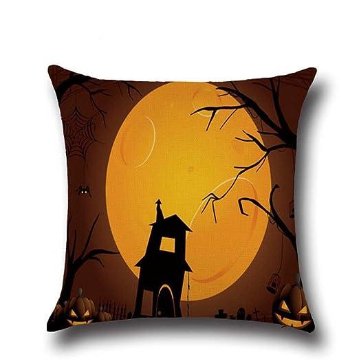 Wmshpeds Bruja de Halloween Horror Bat patrón Búho Lino ...