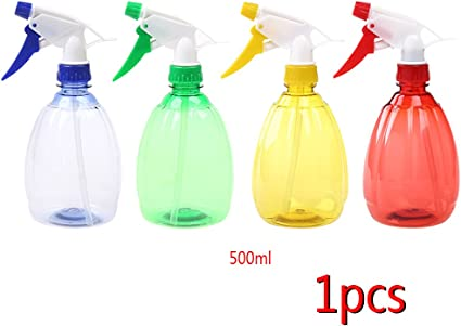 500ML Plastic Clear Spray Bottle Cleaning Water Garden Empty Portable Trigger