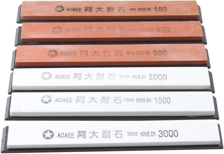 [1 Year Waranty]IMAGE Sharpening Stones Set 6PCS for Kitchen Knife Sharpener Professional Sharpening System-stone grit: #180#400#800#1500#2000#3000