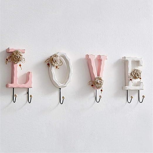 LHY SAVE Decorativo Love Perchero De Pared Creativo Hojas ...