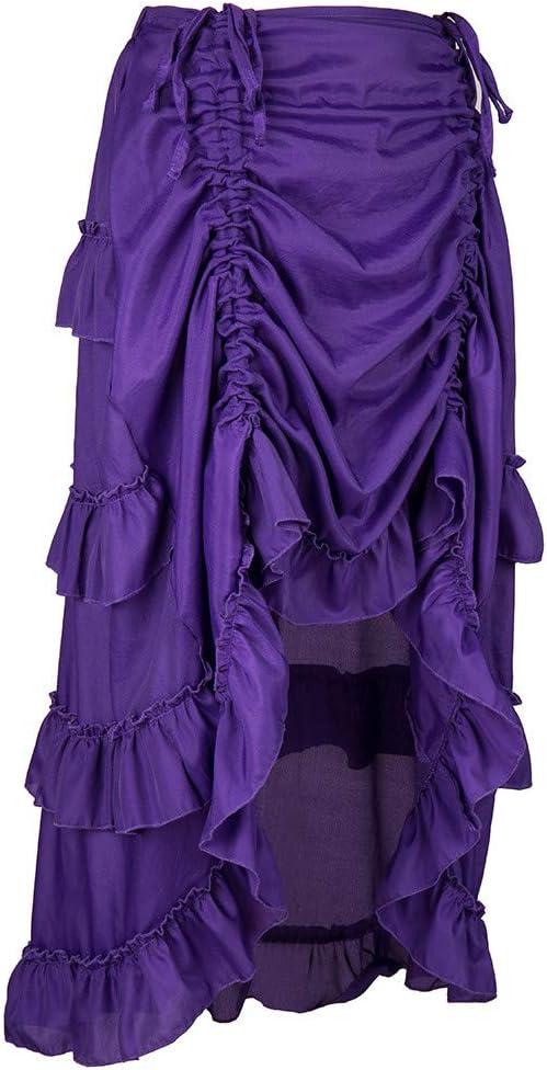 DOGZI Falda Estilo Steampunk Gothic Ruffles Falda Pirata Wrap/Capa ...