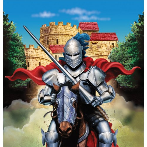 - Creative Converting Valiant Knight Plastic Table Cover, 54 by 108-Inch